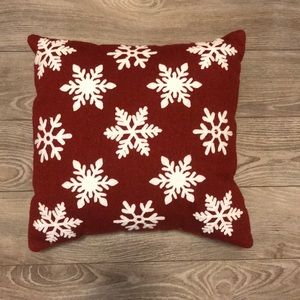 Red Snowflake Pottery Barn Cushion